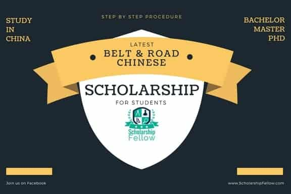 China Belt and Road Scholarship for Bachelor Master and phd