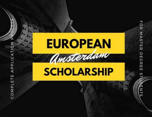 Amsterdam Excellence Scholarship Application Process - European Scholarships-min