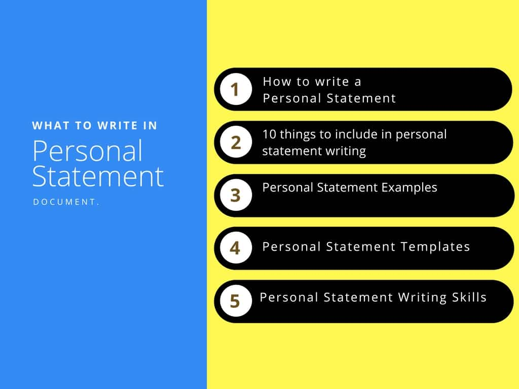 Personal Statement Examples And Templates Of Personal