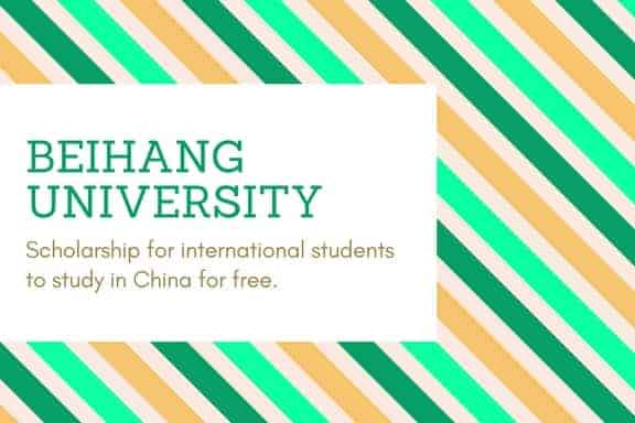Beihang University CSC scholarship