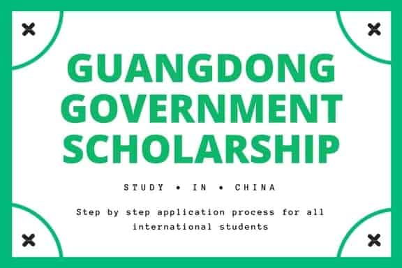 Guangdong scholarship