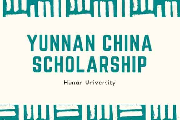 Yunnan Government agricultural Scholarship