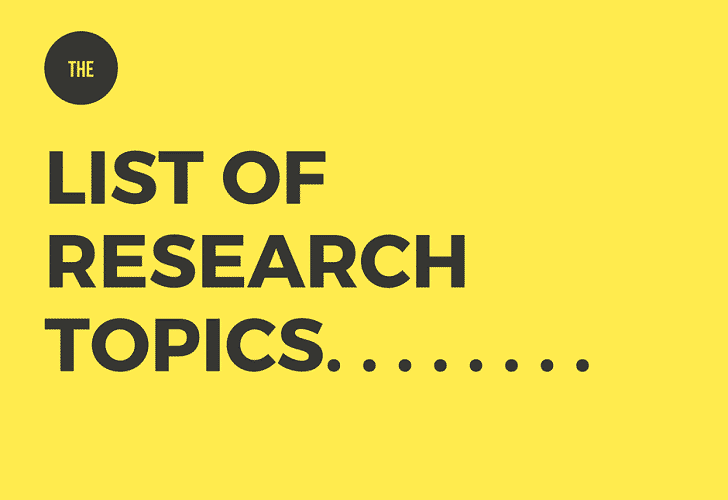 list of topics for research paper Students in high school sometimes lack of experience to come up with a strong  topic for their research project here are some ideas to get you started.