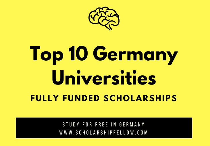 List of Top 10 German Universities - German University Scholarships