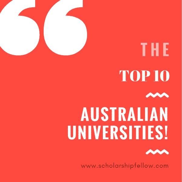 Top 10 Australian Universities and Australian Awards Scholarships