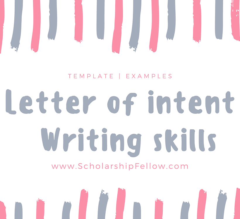 how to write a letter of intent loi