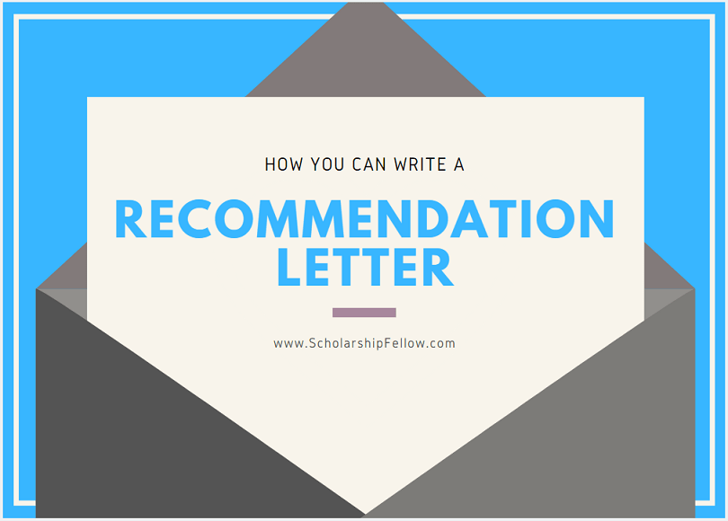 Writing Your Own Letter Of Recommendation Template from scholarshipfellow.com